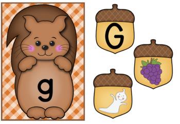 Squirrel Alphabet Match Up