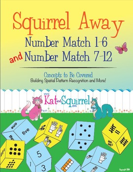 Squirrel Away 1-6 & 7-12 bundle! Subitizing game for structuring numbers