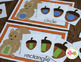 Fall Squirrel and Acorn Bundle:  Fall Activities for Preschool Pre-k and ECE
