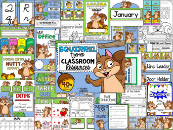 Squirrel Classroom Theme Decor Pack