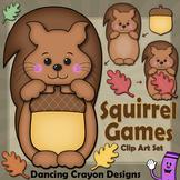 Squirrel Clip Art | Fall | Autumn Leaves