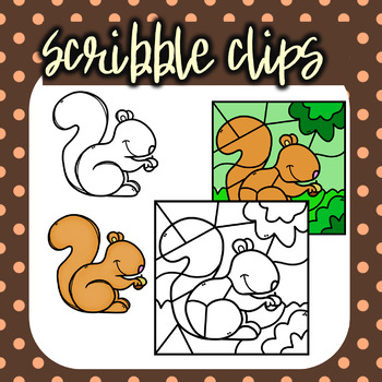 Squirrel Color By Number Set