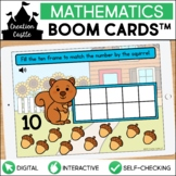 Squirrel Counting Boom Cards™ | Ten Frames 1-10