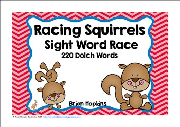 Squirrel Sight Word Race