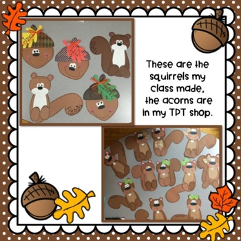 Fall Crafts: Squirrel Crafts: Fall Writing Activities: Fall Crafts
