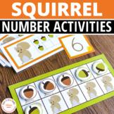 Squirrel and Acorn Math Activities for Preschool and Kindergarten