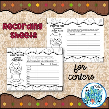 Squirrel Fun!  Dynamics Matching Game for Large Group or Music Center