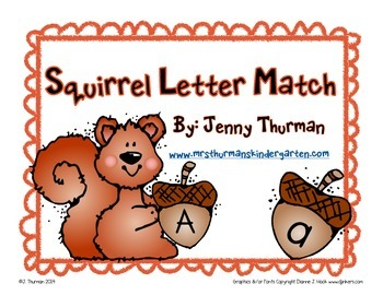 Squirrel Letter Match
