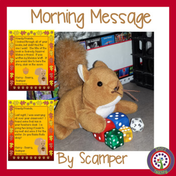Squirrel Morning Message - Aligned to English Language Arts Standards
