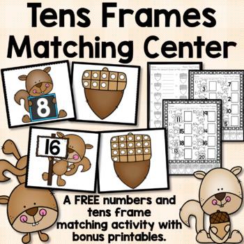 Squirrel Number Matching Game FREEBIE