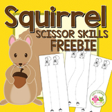 Squirrel and Acorn Scissor Practice Pages:  FREEBIE Fine Motor Fun for Fall