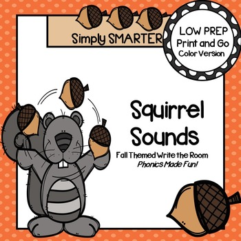 Squirrel Sounds:  LOW PREP Fall Themed Write the Room