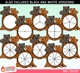 Squirrel Spinners Fall Clip Art