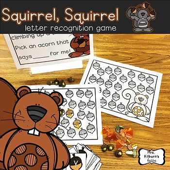 Squirrel Squirrel Letter Recognition Game