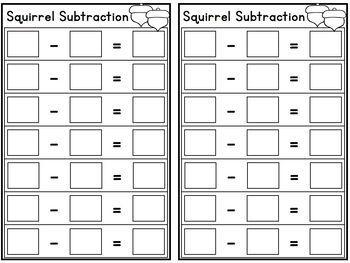 Squirrel Subtraction -Lakeshore Recording Sheets-