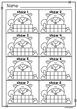 Squirrel Ten Frame Activity Cards