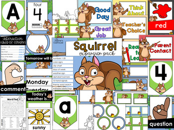 Squirrel Theme Decor {Expansion Pack}