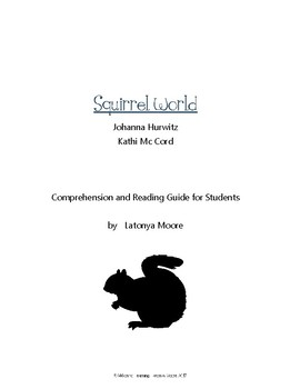 Squirrel World by Johanna Hurtwitz Reading Comprehension Guide