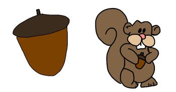 Squirrel and Acorn free clipart!