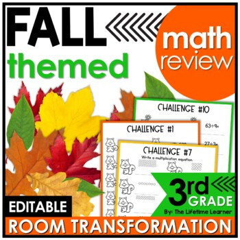 Squirrel's Fall Adventure - 3rd Grade Spiral Math Review
