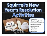 Squirrel's New Year's Resolution Book Activities