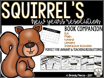 Squirrel's New Year's Resolution Book Companion - Perfect for January!