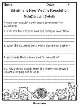 Squirrel's New Year's Resolution (Literature Unit)