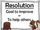 Squirrel's New Year's Resolution Mini-Unit