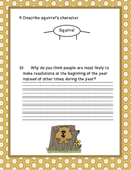 Squirrel's New Year's Resolution Story Map