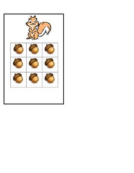 Squirrel sticker chart