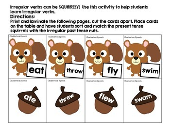 Squirrelly Irregular Verbs