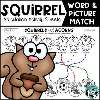 Squirrels & Acorns: Word/Picture Match for Articulation