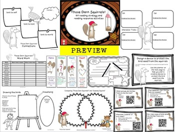 """""""Squirrels"""" Bundle - HOT reading tasks for 3 picture books"""