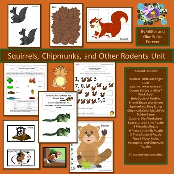 Squirrels, Chipmunks, and Other Rodents Unit