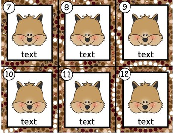 Squirrels~ Editable Write the Room