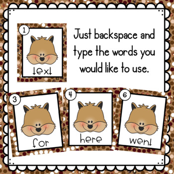 Squirrels- Editable Write the Room