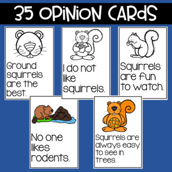 Squirrels: Fact and Opinion