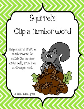 Squirrel's Fall Number Words (0 - 20)