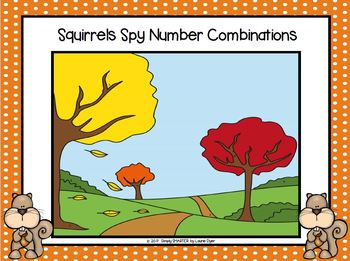 Squirrels Spy Number Combinations:  NO PREP Squirrel Themed I Spy Number Game
