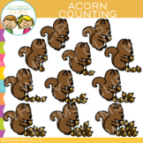 Squirrels and Acorn Counting Clip Art