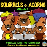 Squirrels and Acorns Clip Art for Teachers
