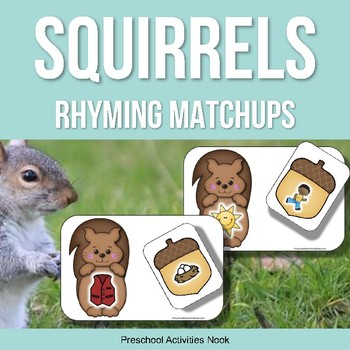 Squirrels and Acorns Rhyming Matchups