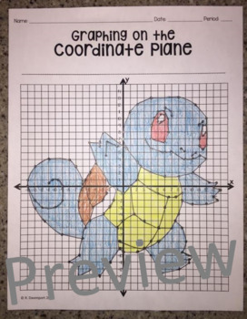 squirtle graphing on the coordinate plane mystery picture by