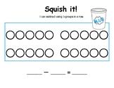 Squish It! Subtraction Math Center Game