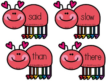 Squish the Bug (Slap it) !!! A Sight Word Game for Grade 2 (Complete Set)