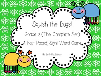 Squish the Bug (Slap it) !!! A Sight Word Game for Grade 2