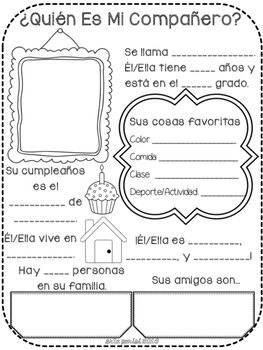 Srta Parisi ¿Quién soy yo? Back to School project!