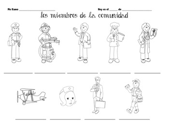 Srta Parisi -- los miembros de la comunidad -- vocabulary pdf