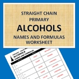 Straight-chain Primary Alcohols Worksheet