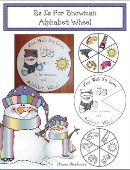 Ss Is For Snowman Alphabet Wheel